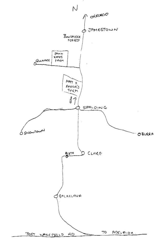 Map of Jamestown for Purple Roads by Fleur McDonald