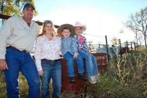 Shane, Kylie, Clancy and Ella-Beth Stretton