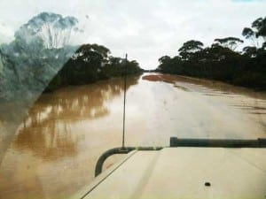 Flood waters at Pingrup, WA