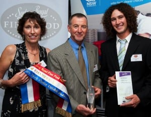Jo, Gary and Sam Rodely of Tathra Oysters at the Fine Food Luncheon 2012 (photo by Paul Robbins)