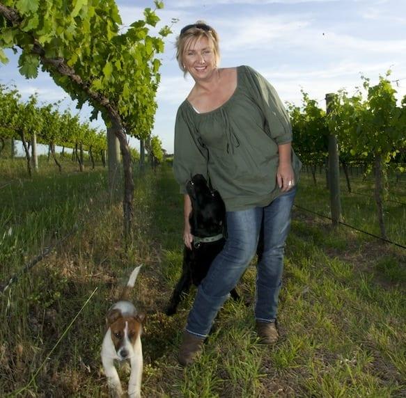 Emma Koch of amongst the vines at Redden Bridge