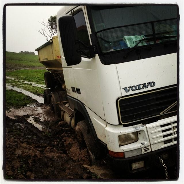 Bogged to the hilt