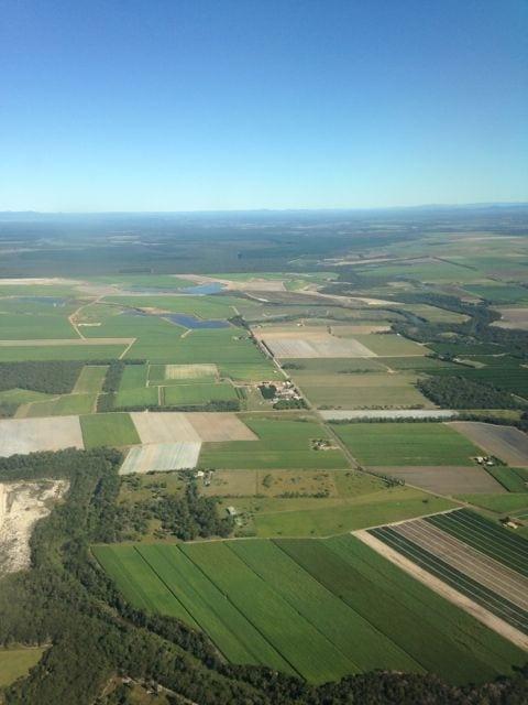 Sugar Cane crops from the air