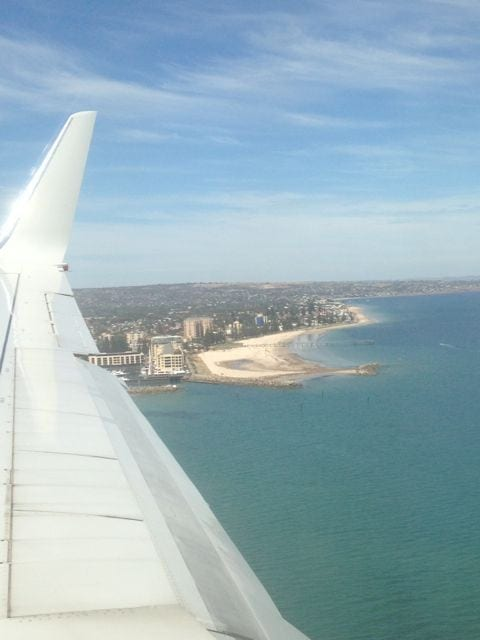 Flying into Adelaide
