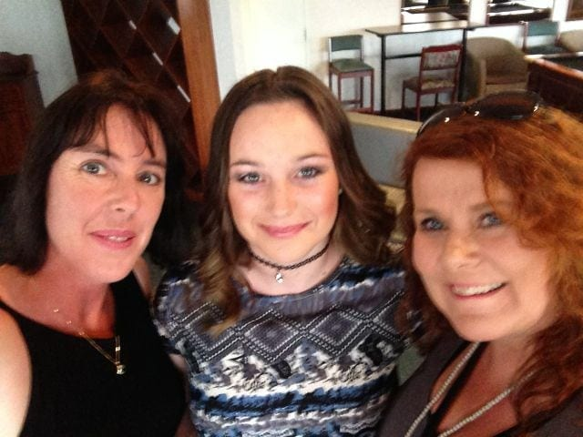 Heather, Rochelle and I on the day of the launch for Emerald Springs