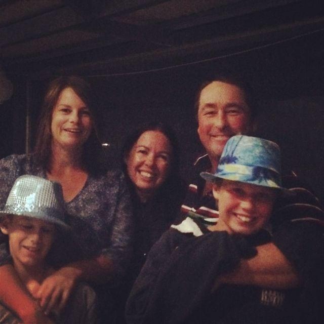 Pete, Em, Carolyn and kids