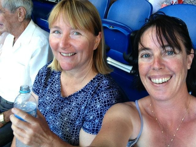 Robyn and I at the Hopman Cup