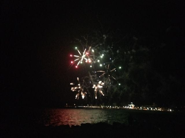 Fireworks on the foreshore in Esperance